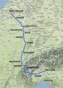 TSR_mapa_Camino_Español_por_Annecy_archiduque_alberto