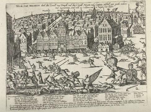 Furia inglesa Saco de Malinas 1580